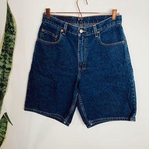• VINTAGE LEVI'S • dark wash denim jean shorts